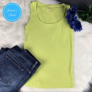 Chico's Lime Green True Color Tees Tank Top 0 S